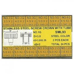 surtido 24 coronas rosca c/tubo acero