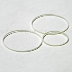 junta blanca de cristal