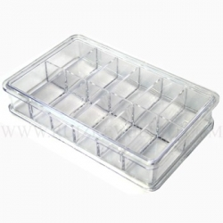 caja de plastico 12 dep. 16x54x84 wit 10870