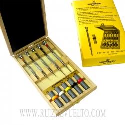 juego 5 destornilladores en caja de madera Bergeon