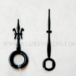 agujas estilo negras 20/15 Flor de lis