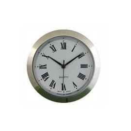 reloj insertar 37 mm números romanos esfera blanca bisel cromado