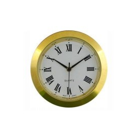 reloj insertar 37 mm números romanos esfera blanca bisel dorado