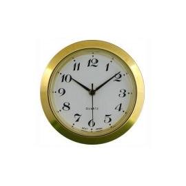 reloj insertar 37 mm números arabes esfera blanca bisel dorado