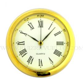 reloj insertar 45 mm números romanos esfera blanca bisel dorado