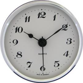reloj insertar 66 mm numeros arabes esfera blanca bisel cromado
