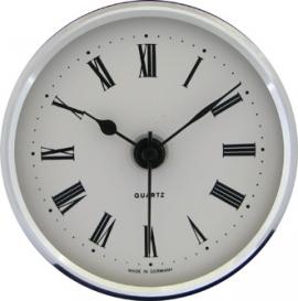 reloj insertar 66 mm numeros romanos esfera blanca bisel cromado