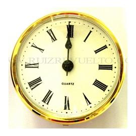 reloj encastrar 103 mm nº romanos esfera blanca bisel dorado