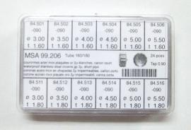 surtido 24 coronas acuaticas chapadas c/c tubo 160/180
