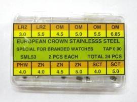 surtido de coronas acuaticas SML 53 acero R-90 24 pz