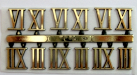 Números dorados romanos (3,6,9,12)