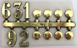 Números dorados árabes mixtos 16 mm ref 55.671