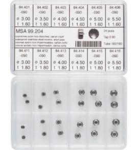 surtido 24 coronas acuaticas acero C/C  T-180 Y 160 R-90