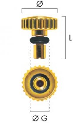 Corona chapada con tubo