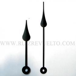 agujas estilo negras 73/55 pera