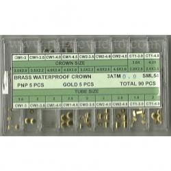 surtido de coronas acuaticas SML 54 rosca 90 acero y chapadas