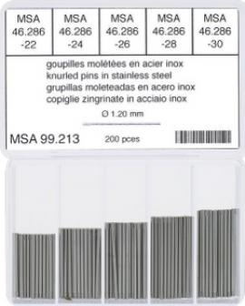 Surtido 200 pz moleteado 1.20 mm dm ancho 22 a 30 mm