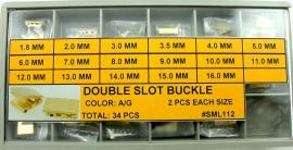 Surtido mixto 34 broches de doble ranura SML 112