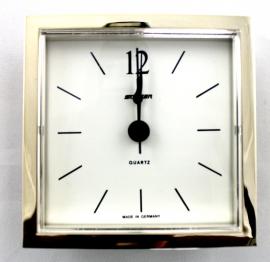 Reloj insertar cuadrado 72 mm rayas bisel dorado