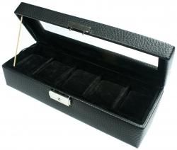 Estuche Nº 1305 para 5 relojes (negro o marrón)