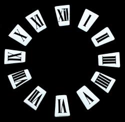 Números cuadrados para reloj