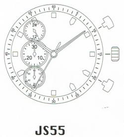 Movimiento MIYOTA JS55