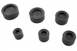 Surtido de 6 tases huecos de PVC Bergeon 65-6-SC