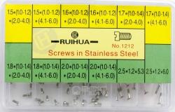 Surtido de tornillos planos de fondo RUIHUA Nº 1212 Ref H081