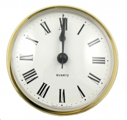 reloj insertar 72 mm numeros romanos esfera blanca bisel cromado
