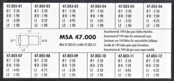 TUBOS ESTUCHE 144 PZ DM 2.50 MM MSA 47.000