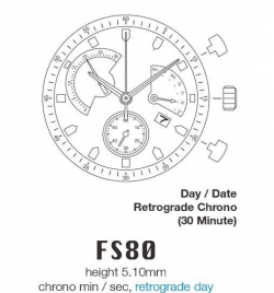 Movimiento MIYOTA FS80
