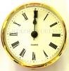 reloj encastrar 72 mm nº romanos esfera blanca bisel dorado