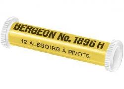 Surtido de 12 alisadores para pivotes Bergeon 1896-H