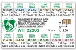 Surtido de 24 coronas acuáticas cobrizas WIT 22204