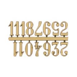 Números dorados árabes 16 mm de alto MSA 55.603