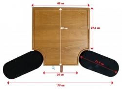 Mini mesa de trabajo de madera con apoyabrazos MSA 24.071