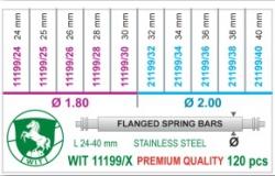 Surtido de 120 pasadores DM 1.80 y 2.00 mm WIT 11199/X