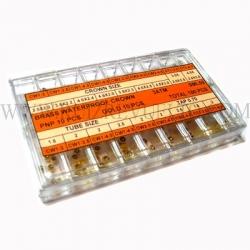 surtido de coronas acuaticas SML 59 acero y chapadas 180 pz