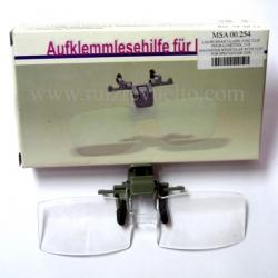 lupa binocular x2.0 con pinza