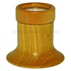 Lupa sencilla madera tono cerezo