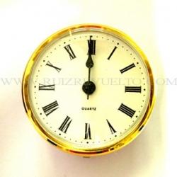 reloj insertar 66 mm numeros romanos esfera blanca bisel dorado