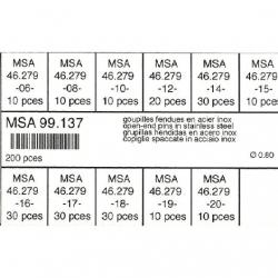 Surtido 200 pz horquilla de armis 0.80 mm dm